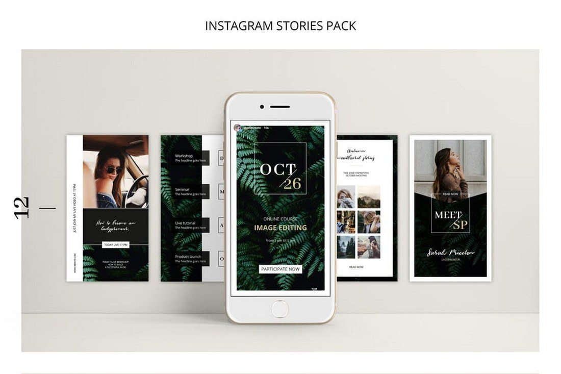 FERNS-Instagram-Stories-Pack 30+ Best Instagram Templates & Banners design tips