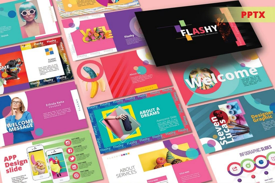 FLASHY Pastel - Colorful Powerpoint Template