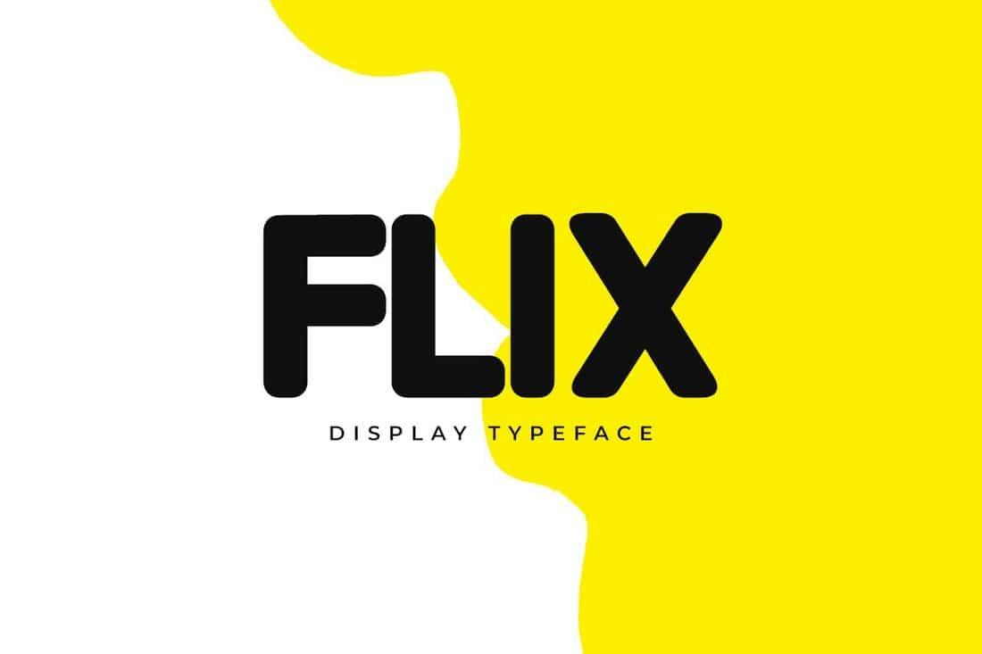FLIX - Unique Display Font