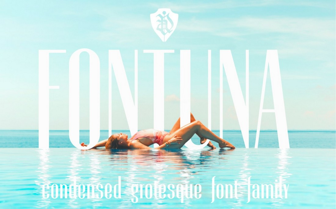 FONTUNA - Free Condensed Font Family