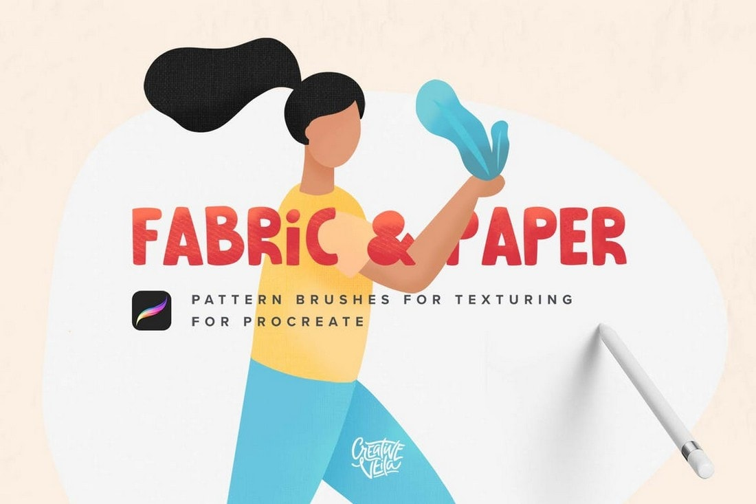 Fabric-Paper-Procreate-Texture-Brushes 30+ Best Procreate Brushes 2020 (Free & Pro) design tips