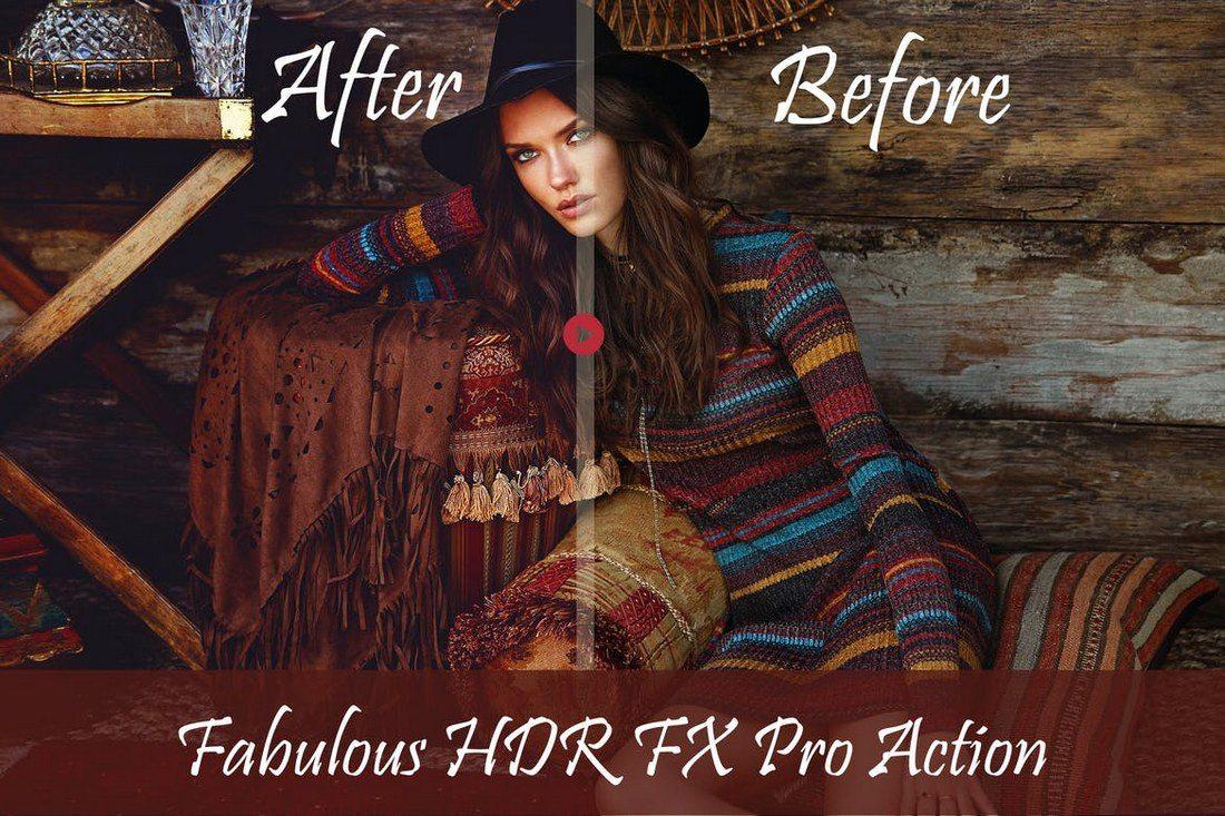 Fabulous-HDR-FX-Photoshop-Action 20+ Best Portrait Photoshop Actions design tips