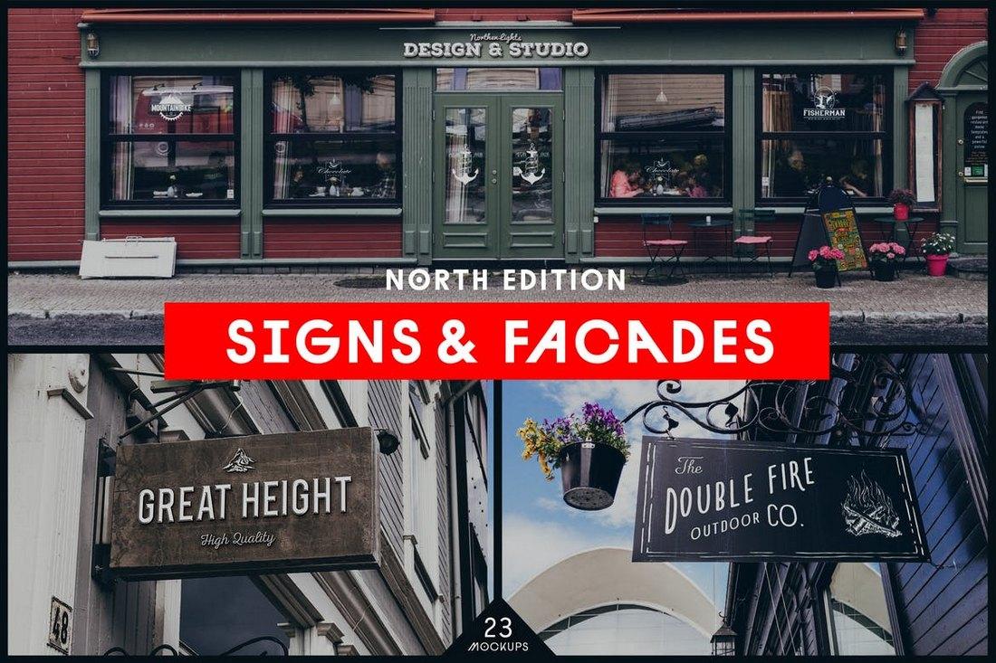 Facades-Sign-Mockups 20+ Best Sign Templates & Mockups design tips