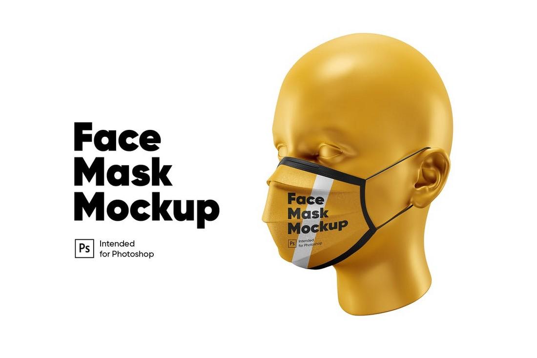 Face Mask Mockup Template