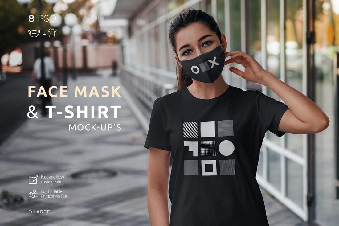 Face Mask & T-Shirt Mockup Templates