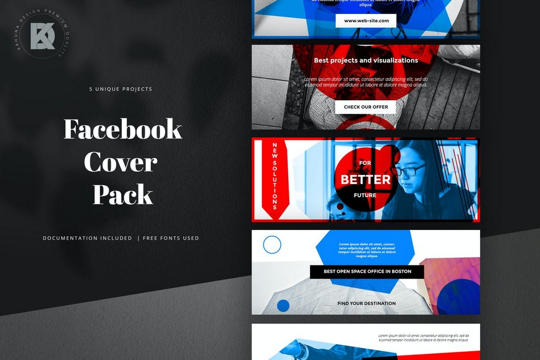 Facebook-Cover-Templates-Pack 40+ Best Social Media Kit Templates & Graphics design tips