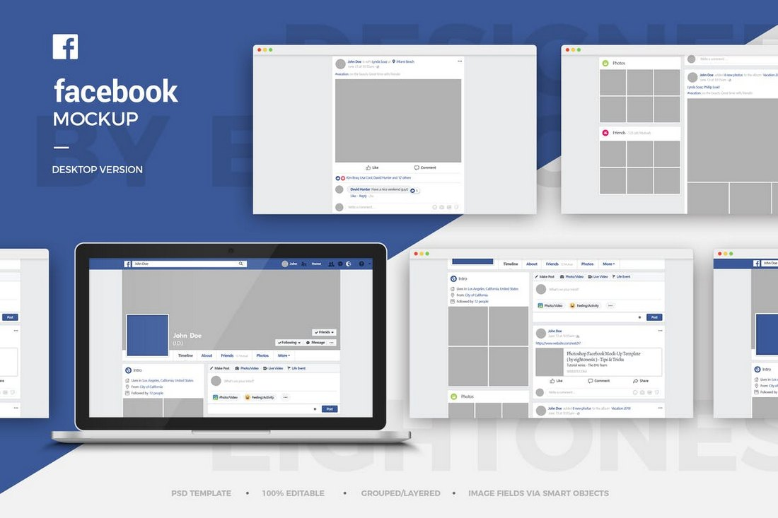 20 Best Facebook Cover Post Mockups Design Shack