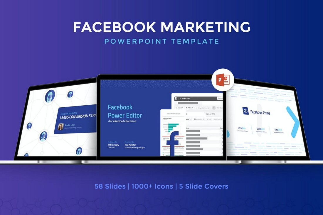Facebook Marketing Strategy PowerPoint Template