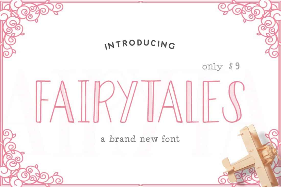 Fairytales - Creative Hollow Font
