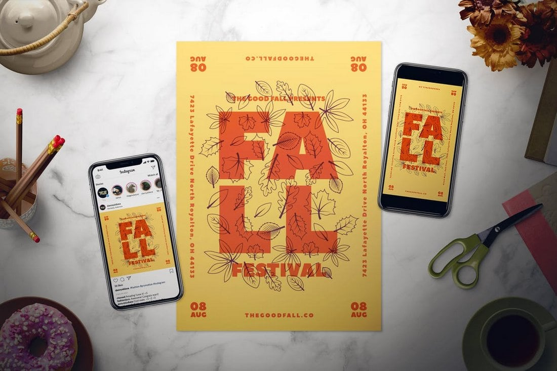 Fall-Event-poster 30+ Best Poster Mockup Templates 2021 design tips