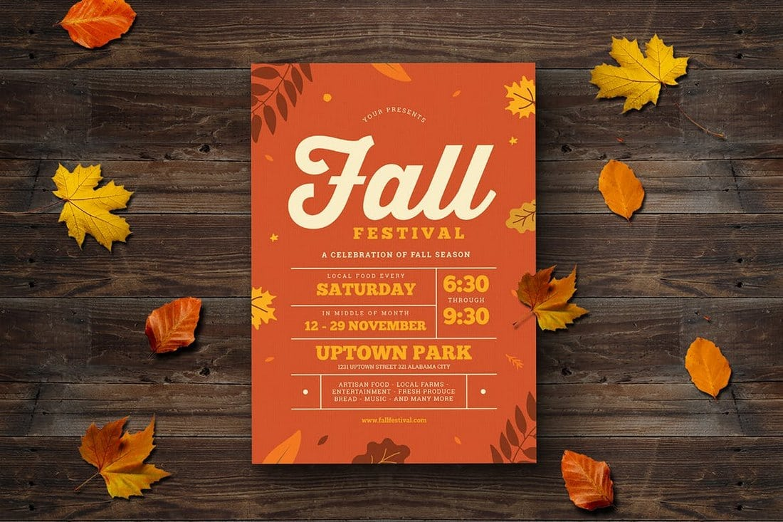 Fall-Festival-Event-Flyer 20+ Best Event Flyer Templates design tips
