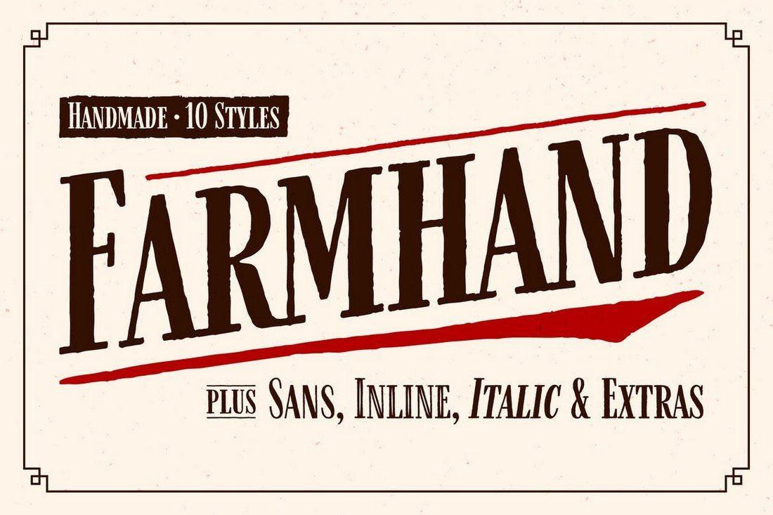 Farmhand-Font-Family 100+ Best Modern Serif Fonts design tips