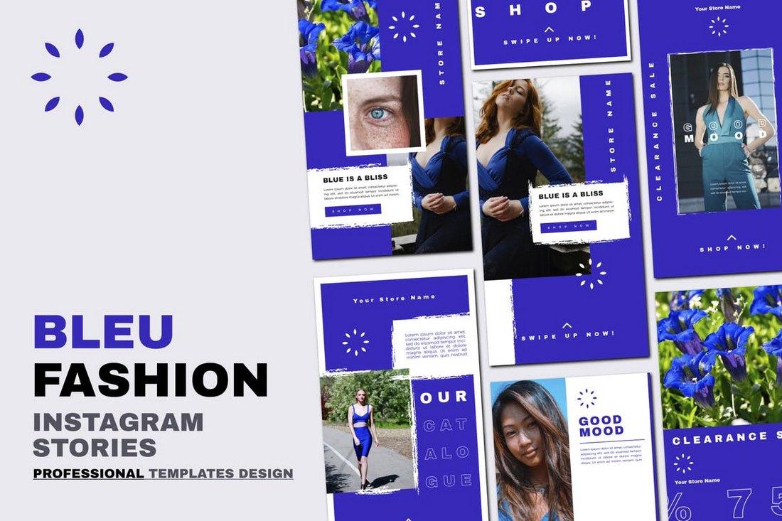 Fashion Bleu Instagram Stories Templates