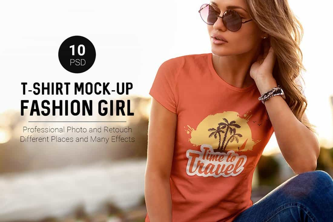 Fashion Girl - Maquettes de t-shirts