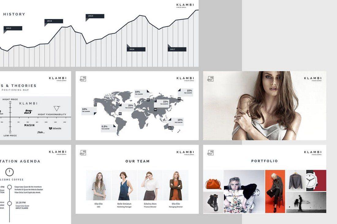 Fashion-Keynote-Template 30+ Best Minimal & Creative Keynote Templates design tips