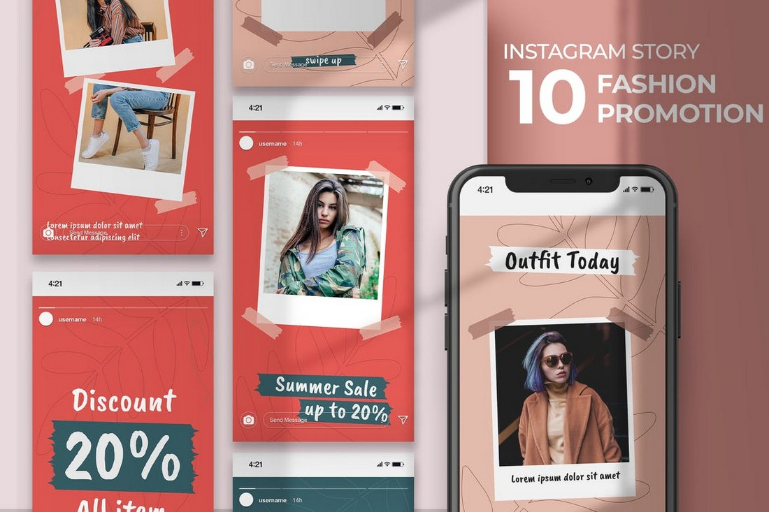 Fashion Promotion & Giveaway Instagram Story Templates