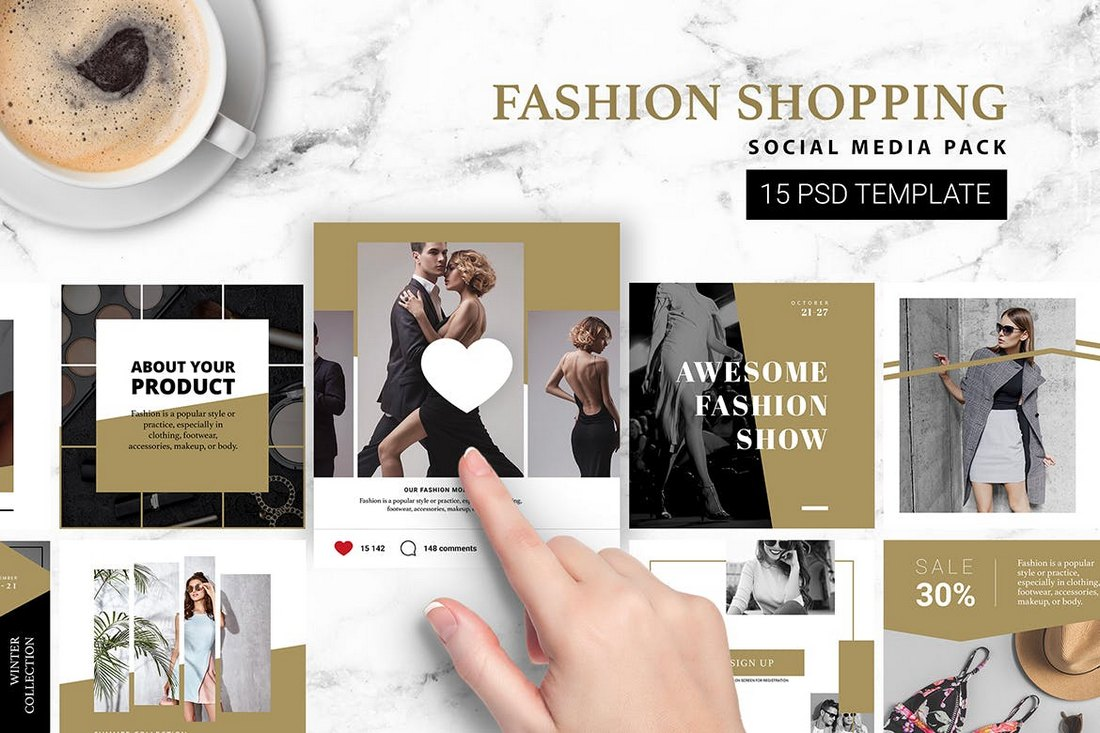 Fashion Shopping Instagram Kit