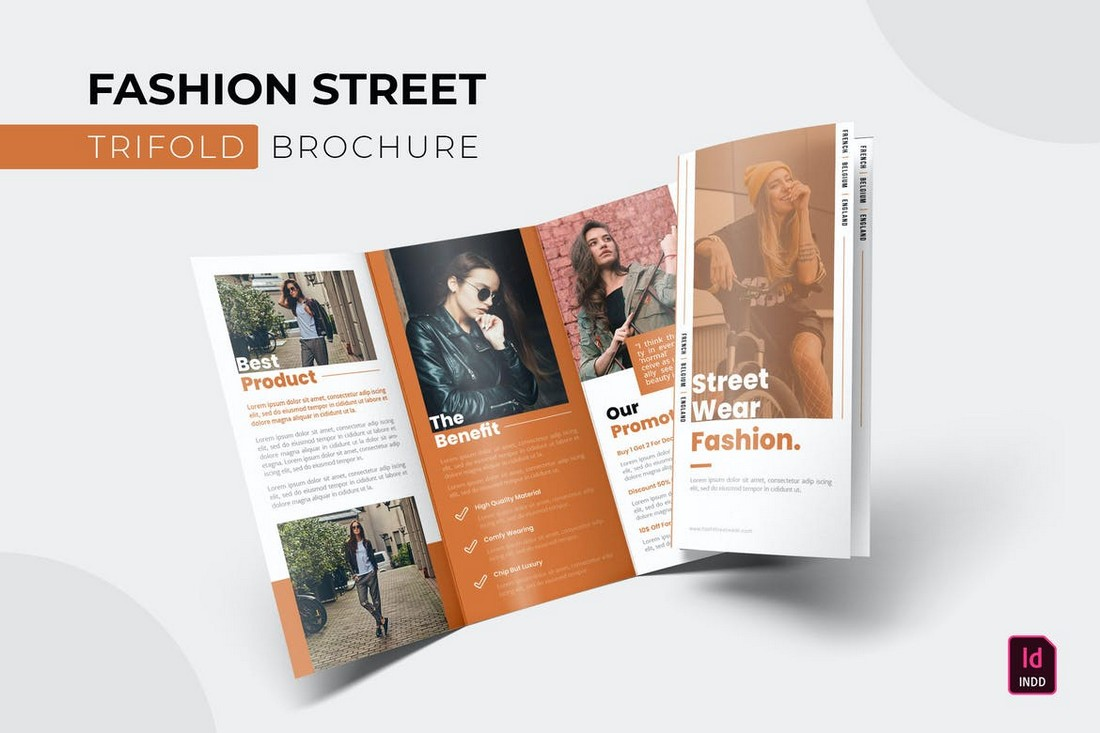 Fashion Street - InDesign Trifold Brochure