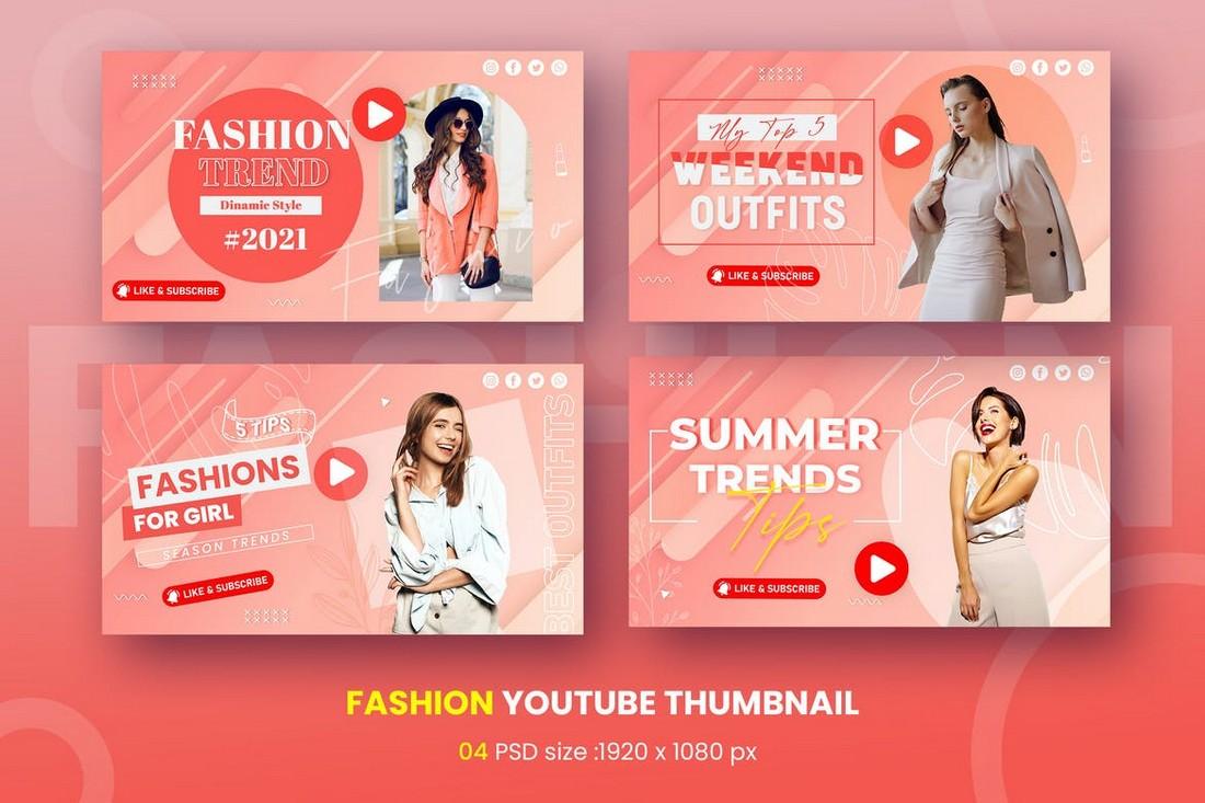 Fashion Vlog Youtube Thumbnail Template
