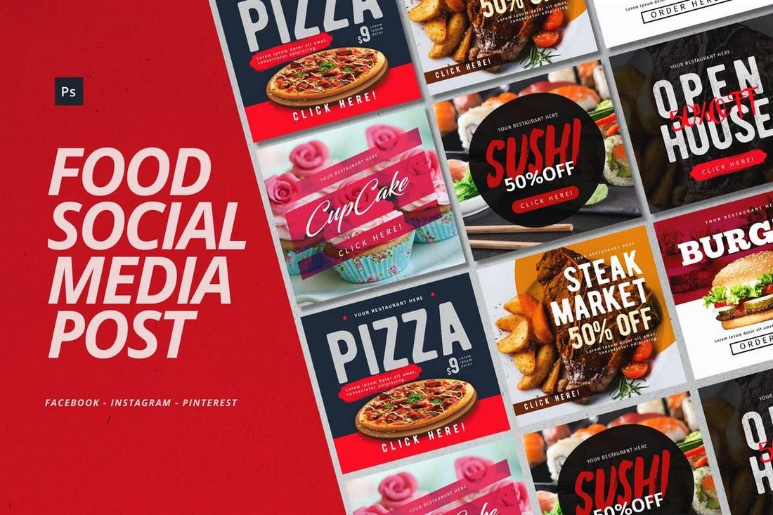 Fast Food Instagram Post Templates