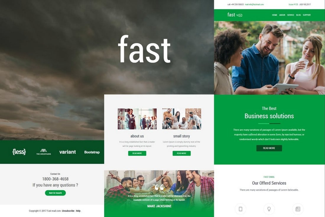 Fast-Responsive-Agency-Email-Template 40+ Modern Responsive Email Templates 2021 design tips
