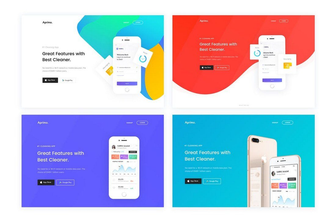 30 Clean Minimal Landing Page Templates Design Shack