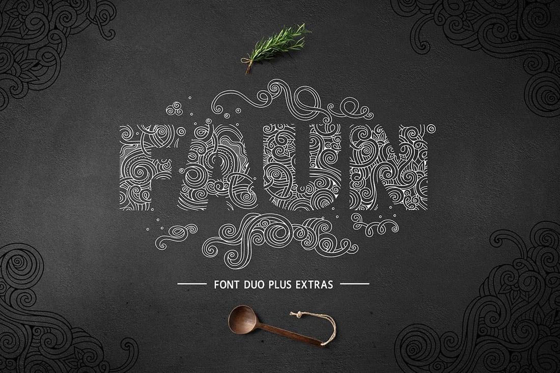 Faun - Unique Decorative Font