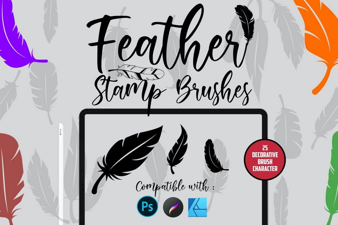 Feather - Stamp Brushes for Affinity Designer