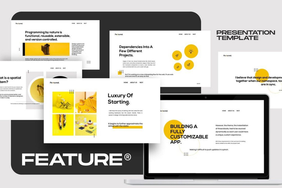 Feature - Brand Guidline Powerpoint Template
