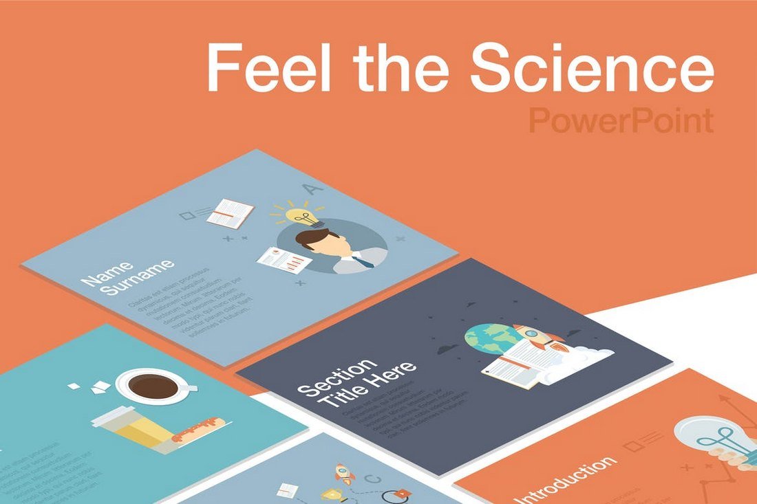 Feel the Science PowerPoint Template