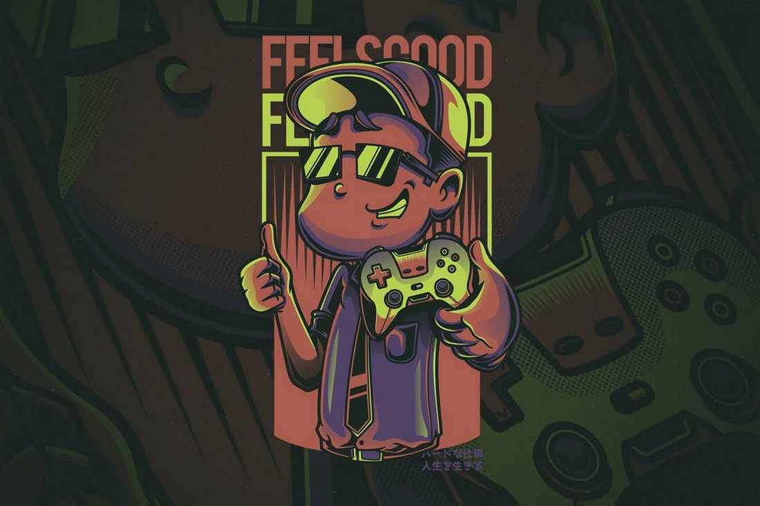 Feels Good - T-Shirt Design for Gamers