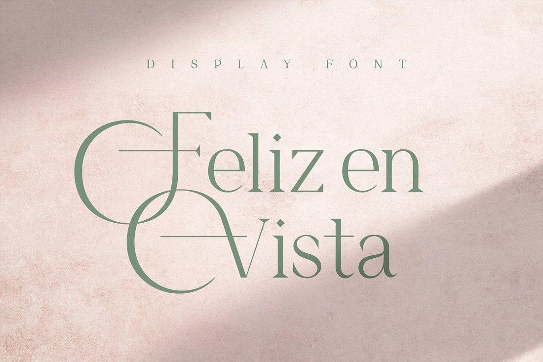 Feliz en Vista - Free Display Font