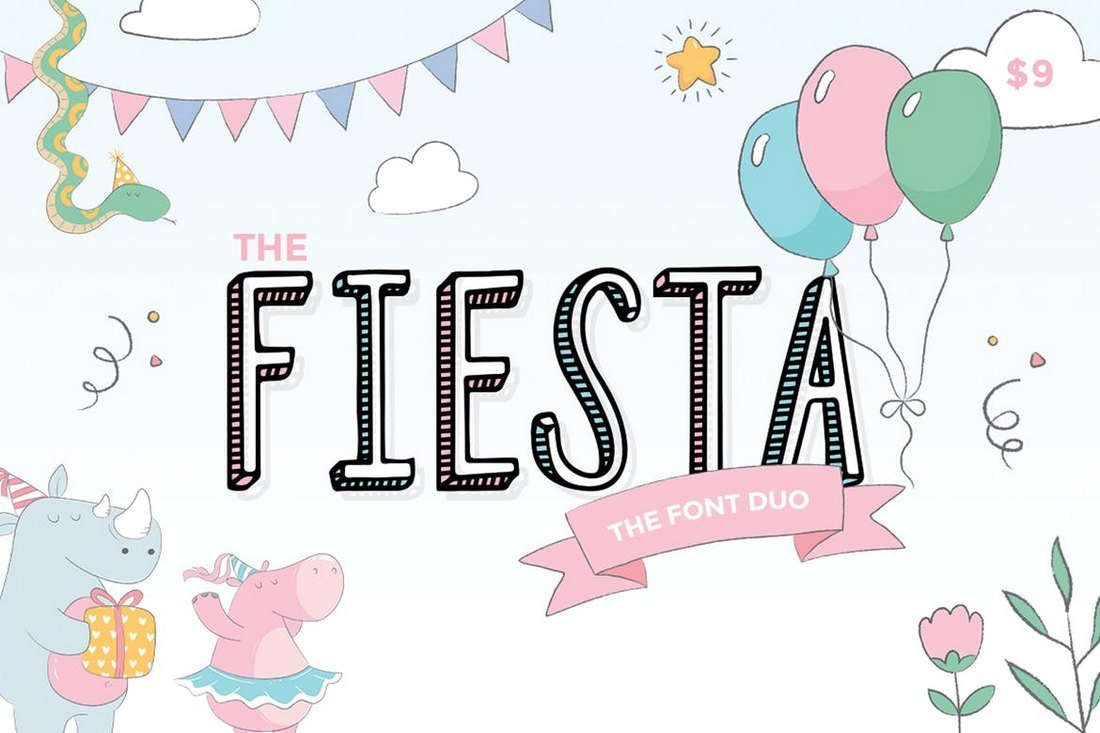 Fiesta-Creative-Font-Duo 30+ Best YouTube Fonts (For Thumbnails + Videos) 2020 design tips