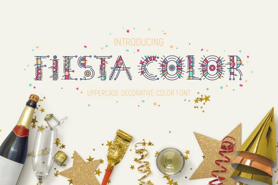 Fiesta - Unique Color Font