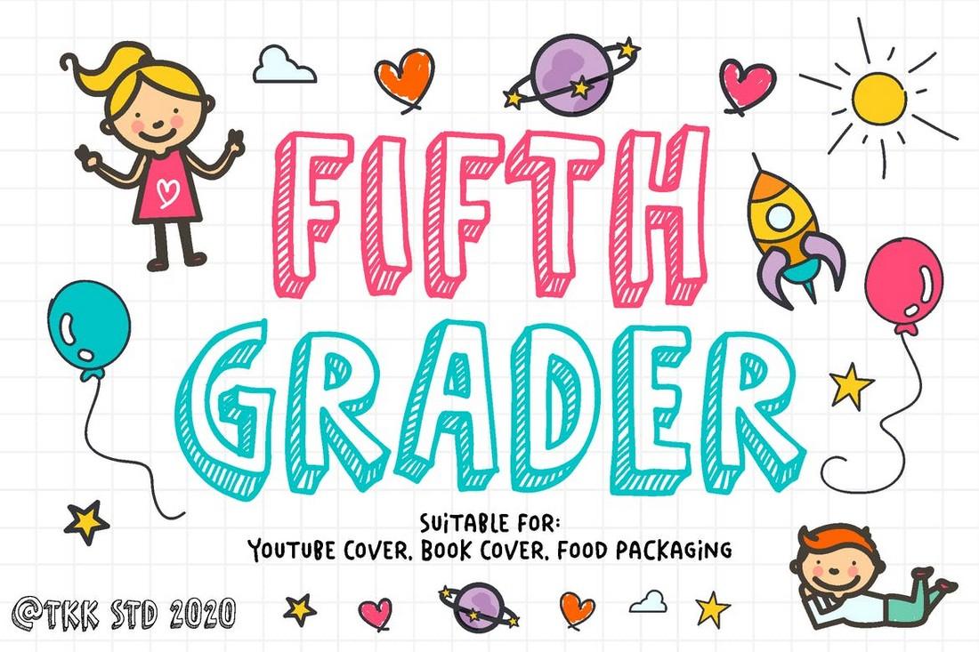 Fifth Grader - Doodle Cartoon Font