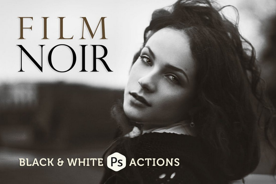 Film Noir - B&W Photoshop Actions