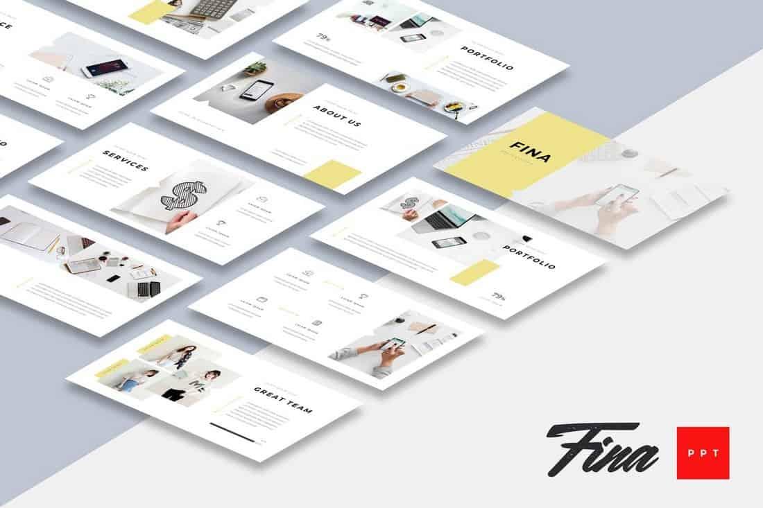 Fina - Business Powerpoint Presentation Template
