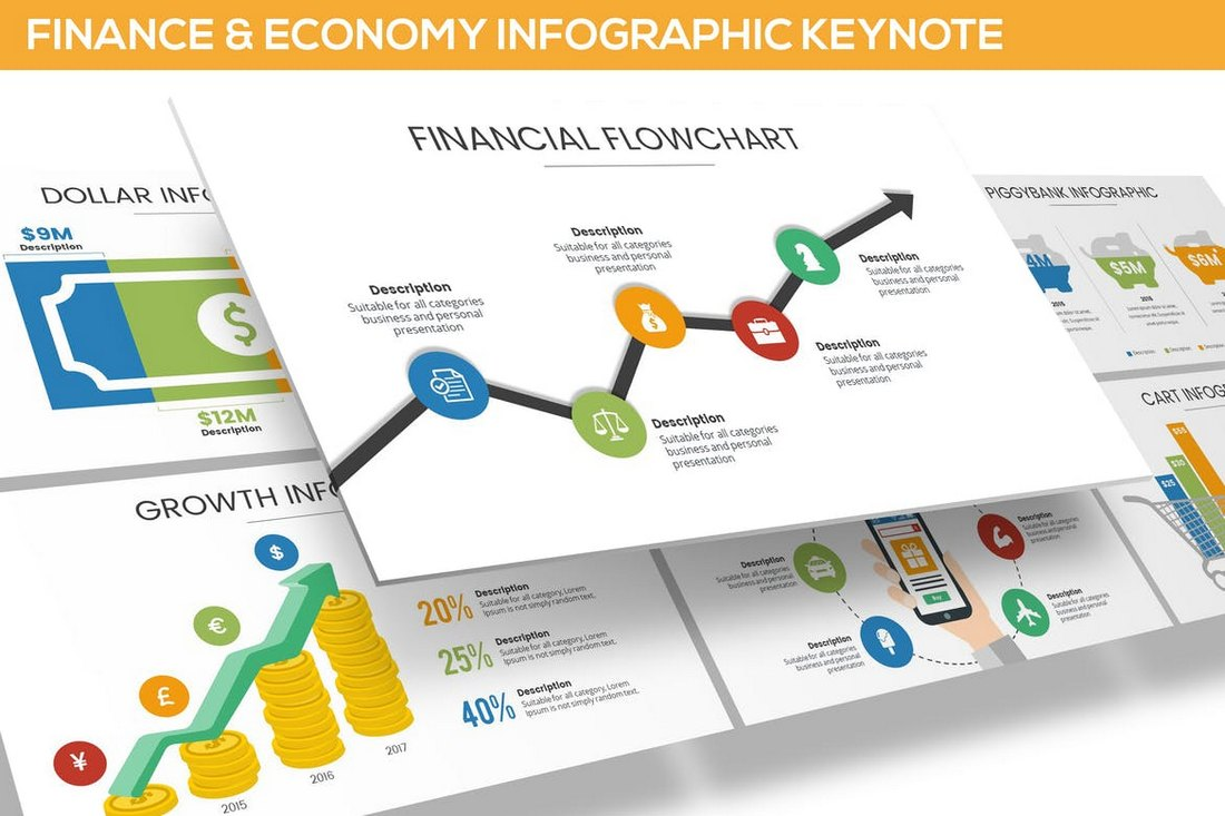 Finance & Economy Infographic for Keynote