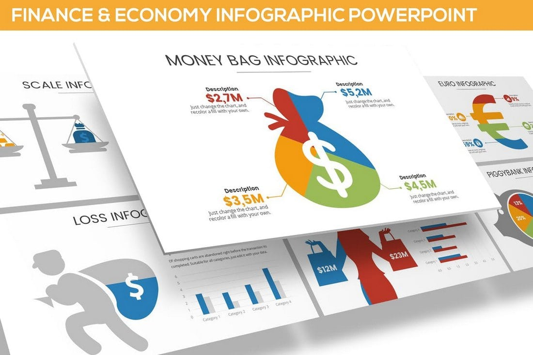 Finance-Economy-Infographic-for-Powerpoint 40+ Best Infographic Templates (Word, PowerPoint & Illustrator) design tips
