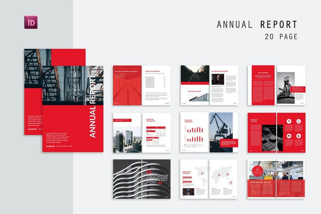 Financial Annual Report Brochure Template