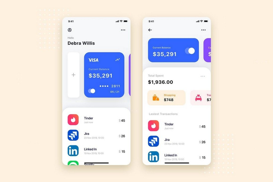 Financial-App-UI-Design-Templates 25+ Best Mobile App UI Design Examples + Templates design tips  Inspiration