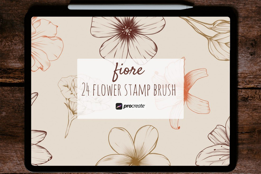Fiore - Procreate Flower Stamp Brushes