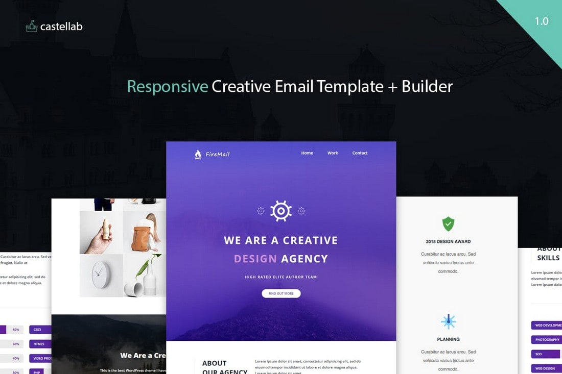FireMail-Creative-Responsive-Email-Template 40+ Modern Responsive Email Templates 2021 design tips