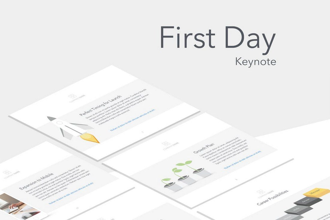 First-Day-Keynote-Template 30+ Best Minimal & Creative Keynote Templates design tips