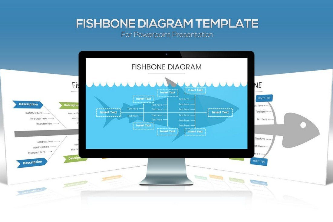 50 Best Powerpoint Templates Of 2019 Design Shack Overview Diagram For 360 Concept Fishbone Is A Popular Method Used To Showcase The Cause And Effect Certain Situations Its Widely In Marketing Sales
