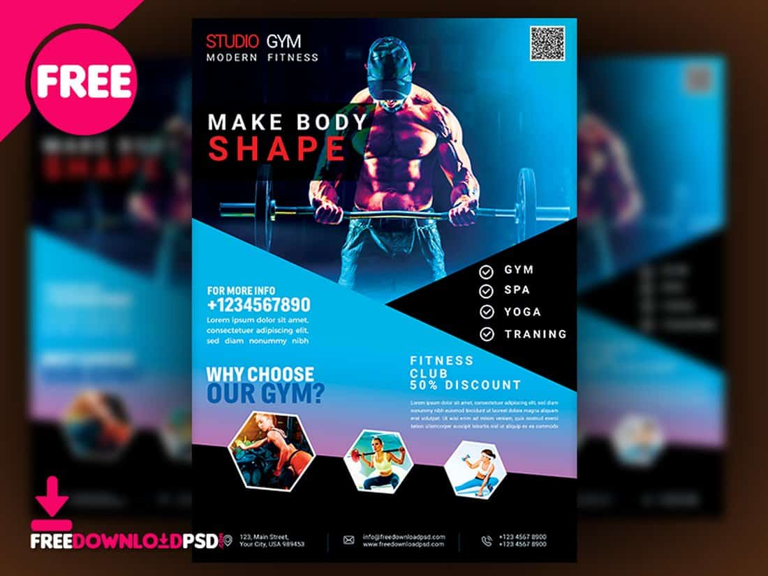 Fitness & Gym Flyer Template