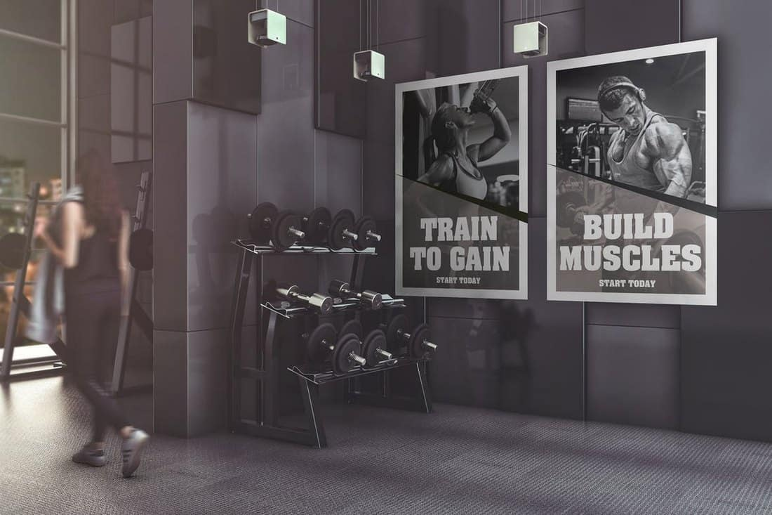 Fitness-Gym-Poster-Mockup 30+ Best Poster Mockup Templates 2021 design tips