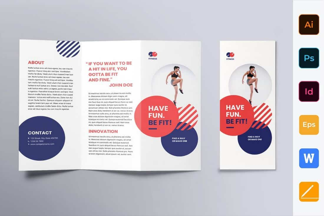 Fitness Trainer Coach Trifold Brochure