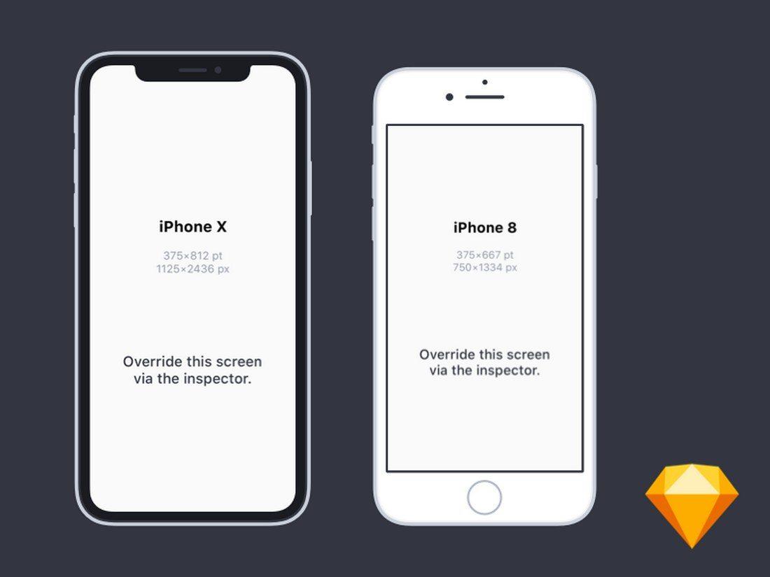 20+ Best iPhone 8 Mockups | Design Shack