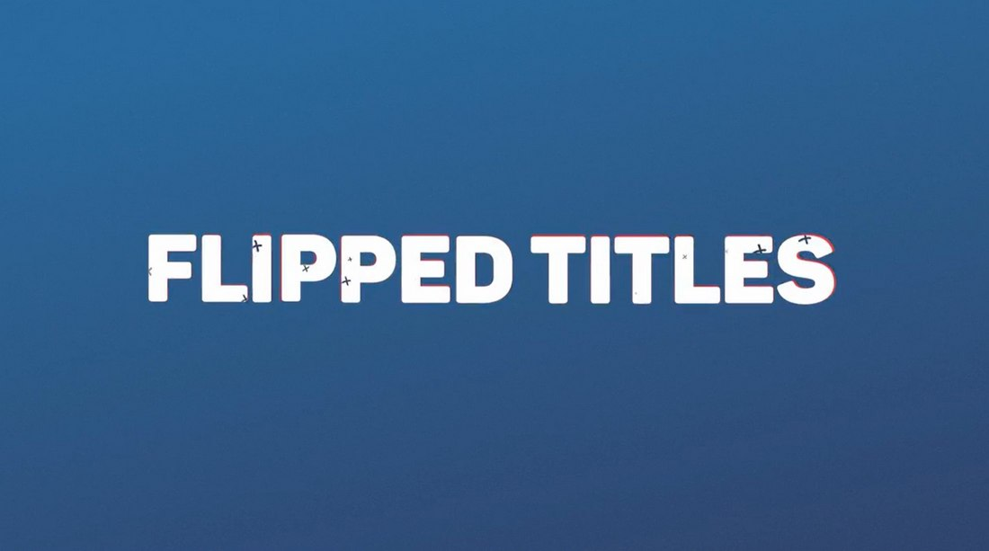 Flipped Titles - Free After Effects Title Template